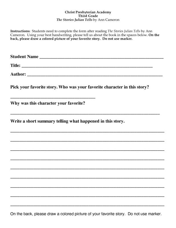 2nd grade book report template shatterlionfo 2nd grade book report template maxwellsz