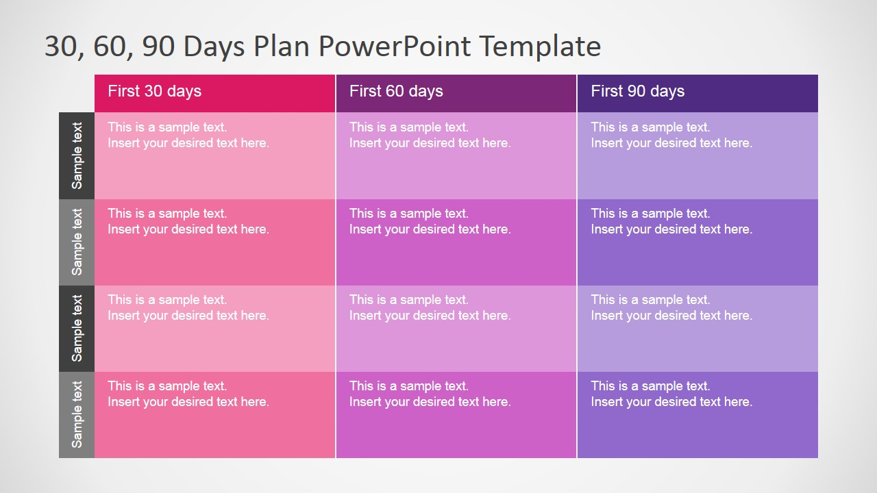 Day Plan Template Powerpoint Shatterlioninfo - 90 day business plan template free