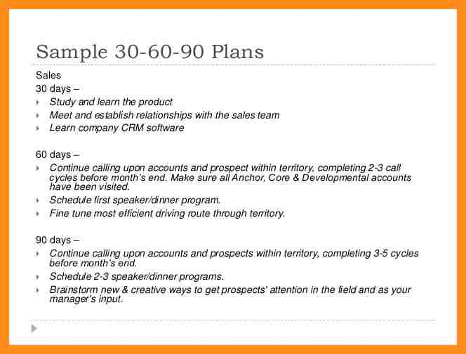 30 60 90 day sales management plan template for Sales manager action plan template