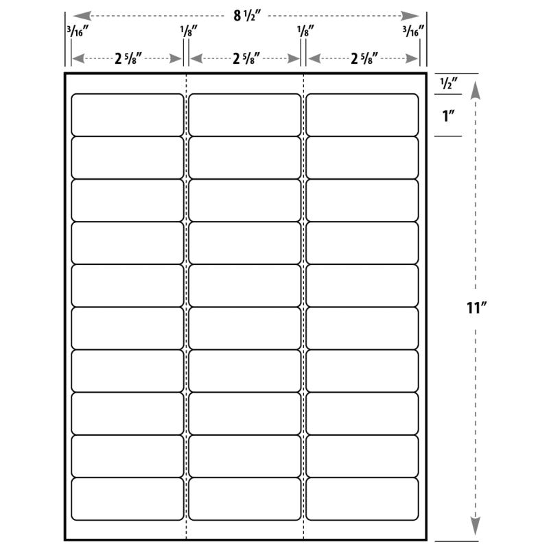 30 labels per sheet template for Labels 8 per sheet template word