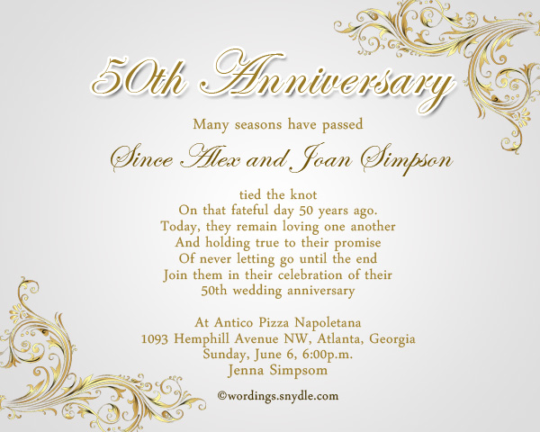 50th Wedding Invitation Templates: 50th Anniversary Invitations Templates