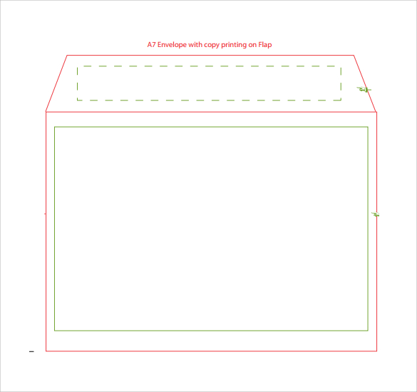 a7 envelope template word