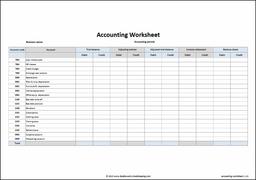 account reconciliation template