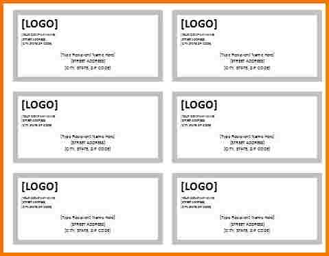address label template word