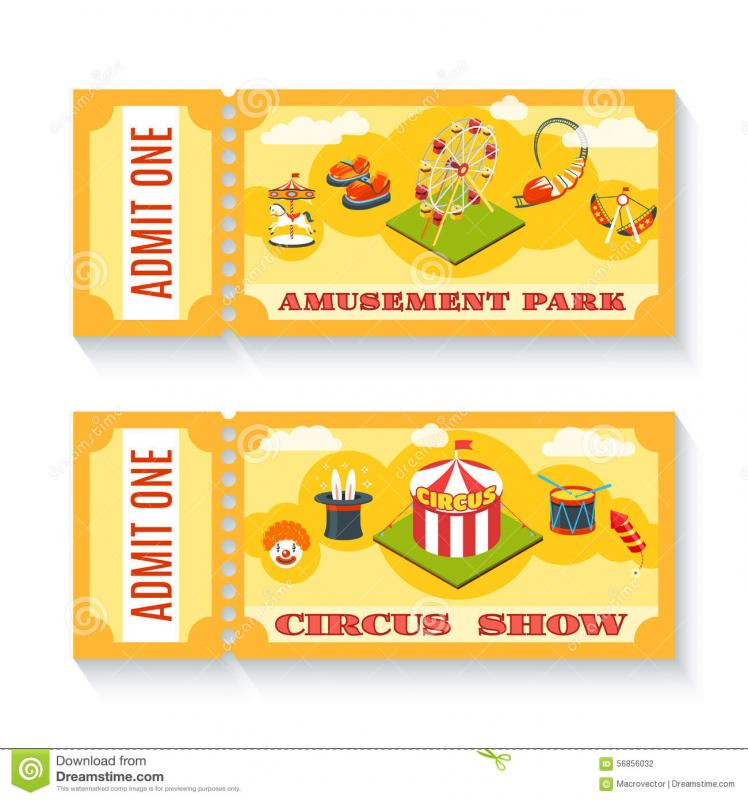 Admission Ticket Template  Admission Tickets Template