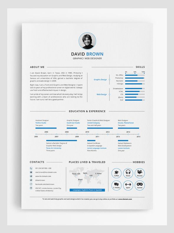 Resume Template Adobe Illustrator 97