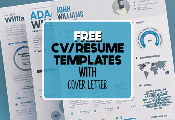 17 free clean modern cv resume templates psd freebies graphic design junction - Free Resume Templates Free