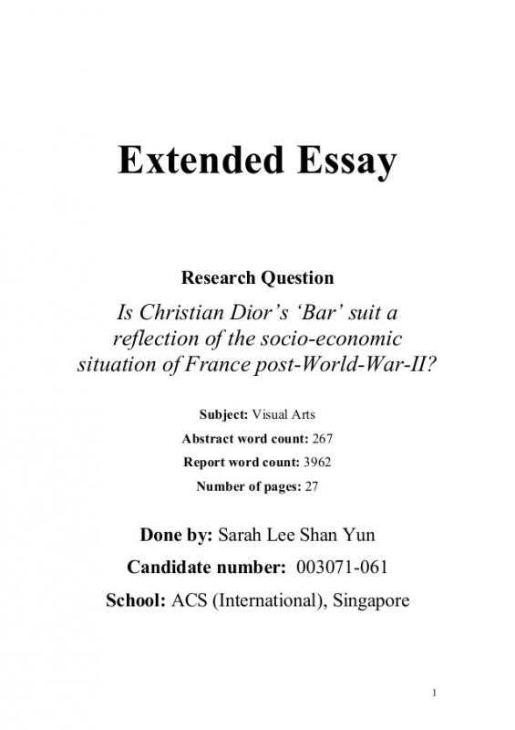 Extended essay structure