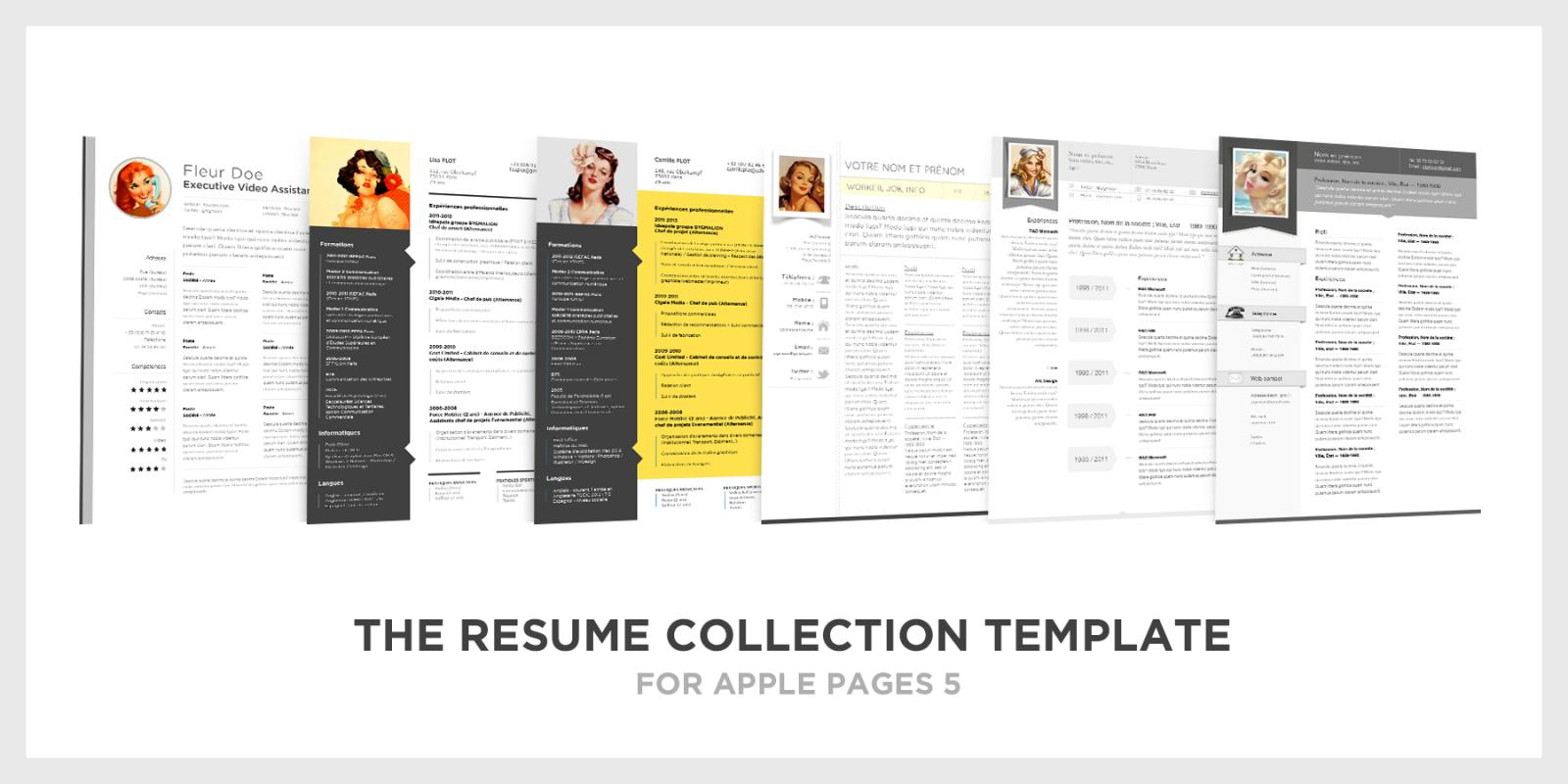 Nice Apple Pages Resume Template  Apple Pages Resume Template