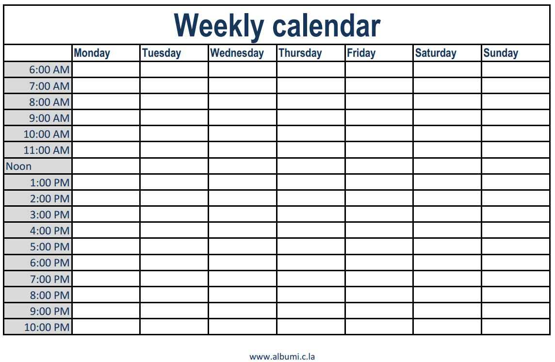 appointment calendar template