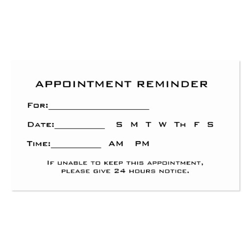 appointment reminder letters