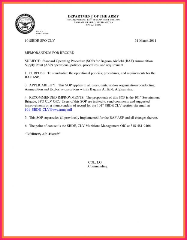 Army memorandum for record template shatterlionfo military memorandum for record template altavistaventures Image collections
