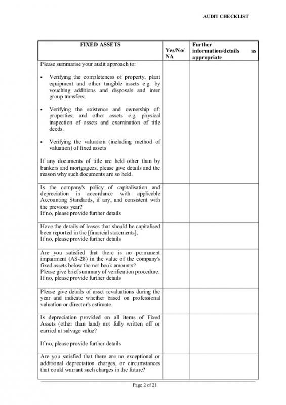 Audit Report Template  Audit Summary Template