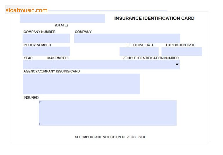 insurance card template free download  Auto Insurance Card Template Free Download | shatterlion.info