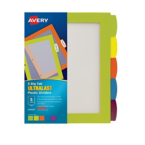 avery 5 tab template