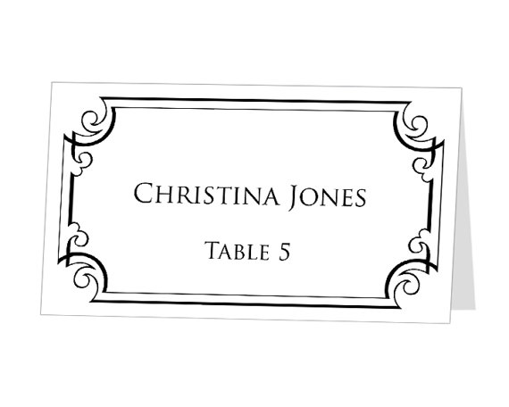 Avery Table Tent Template Shatterlioninfo - Card template free: avery place card template