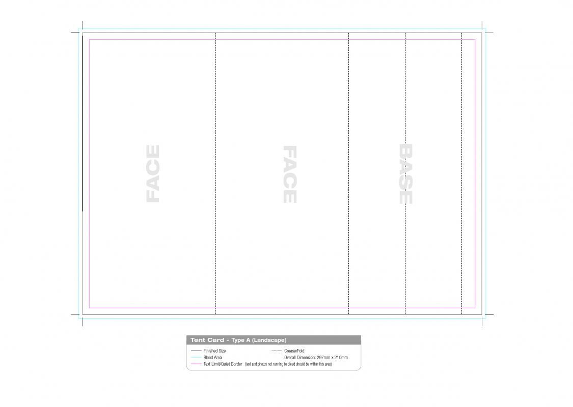 Avery Table Tent Template