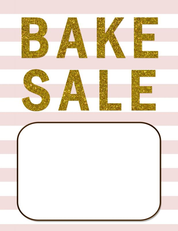 Bake Sale Flyer Template  ShatterlionInfo
