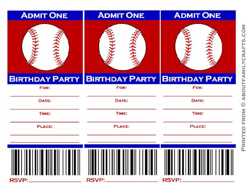 Baseball Ticket Template | shatterlion.info