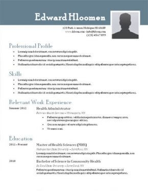 best resume templates word