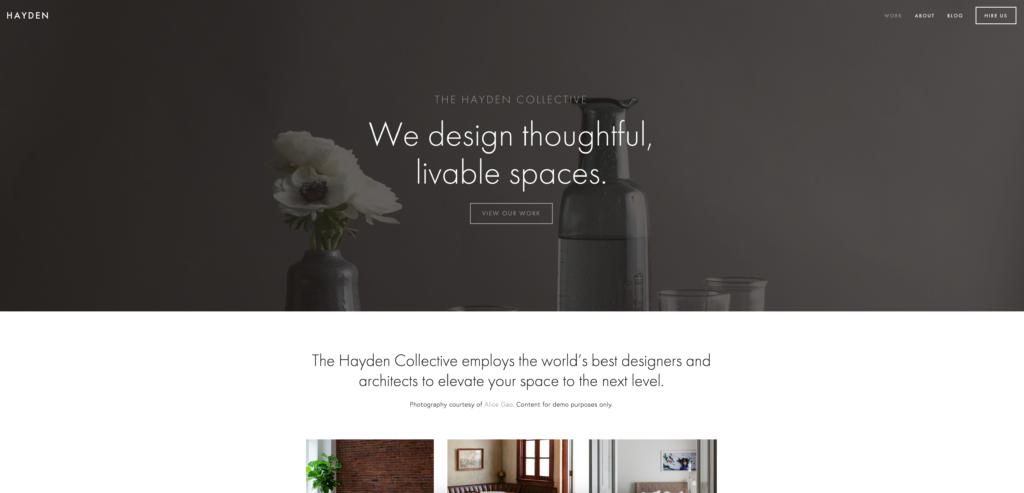 best squarespace template for blog
