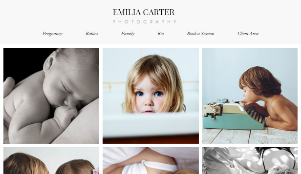 best website templates for photographers