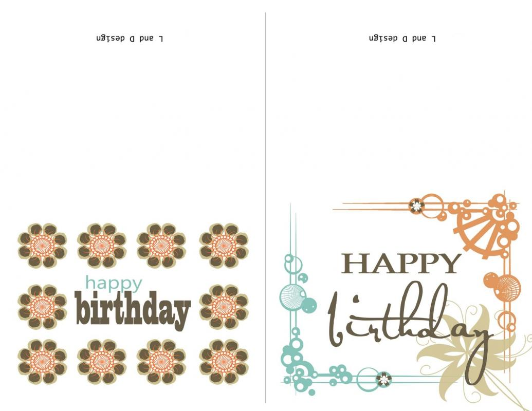 birthday card template word