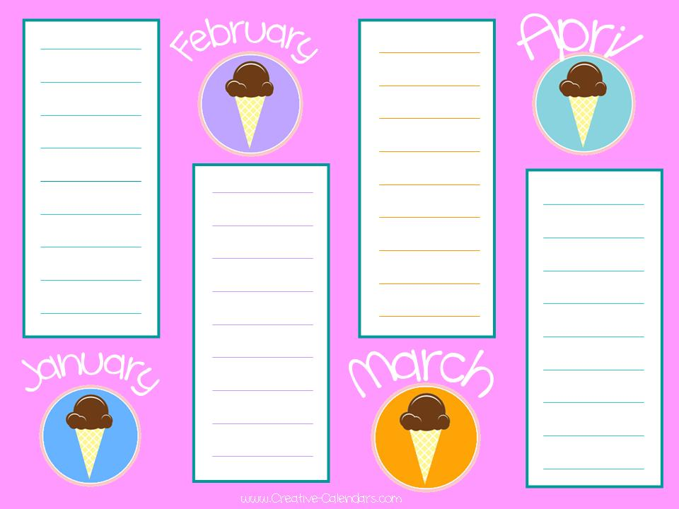 birthday list template