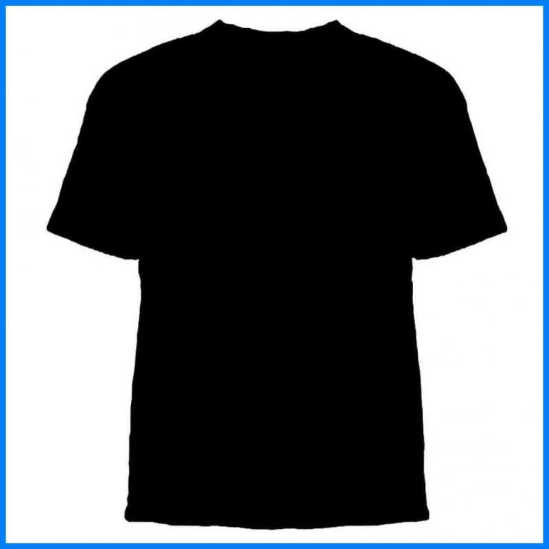 black t shirt template