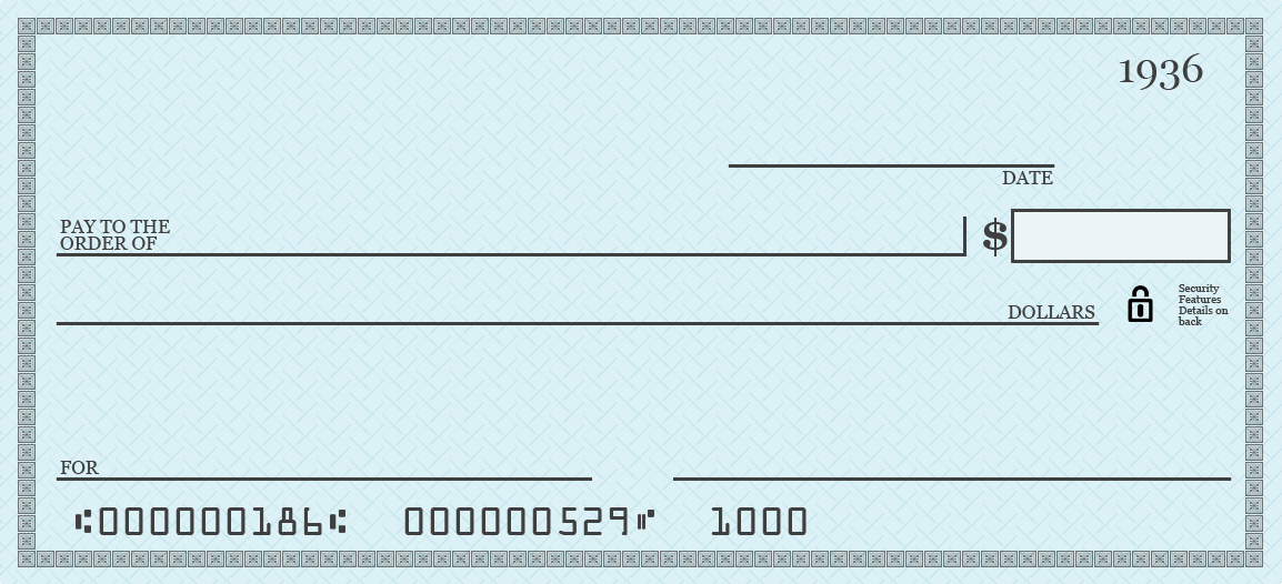 image regarding Printable Personal Checks titled Blank Test Template