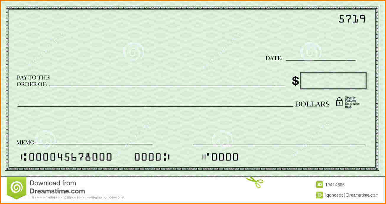 Blank check template for Free blank check template pdf
