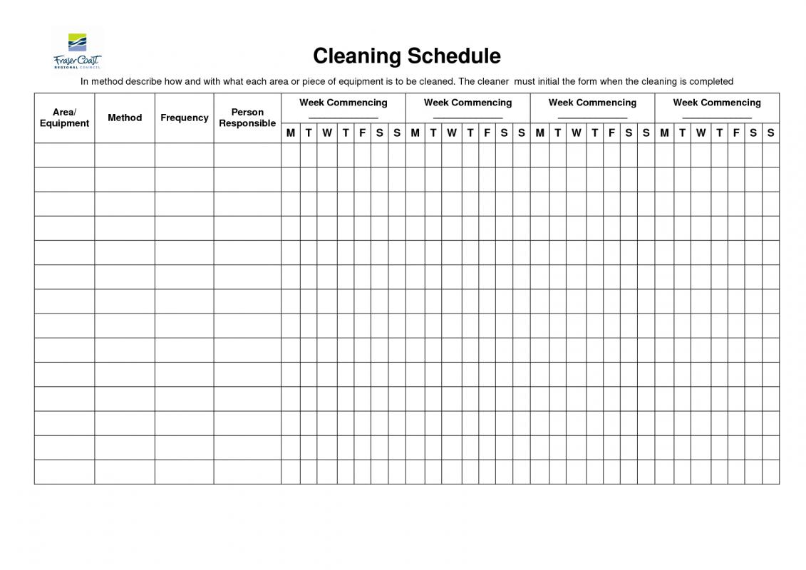 blank schedule template