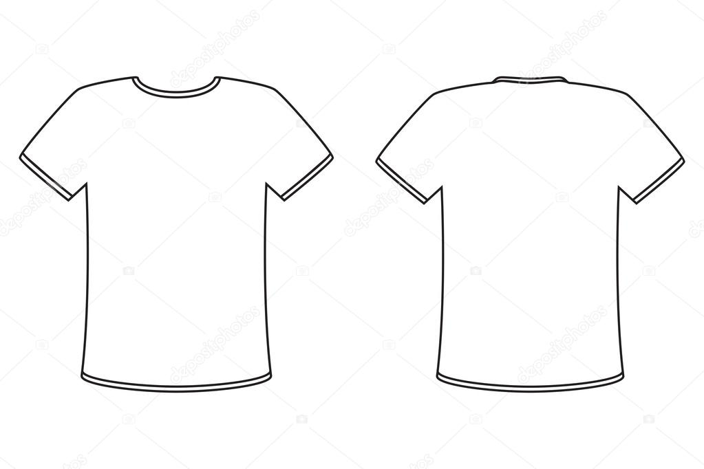 Blank tshirt template for Tee shirt logo placement