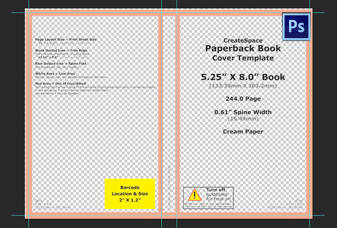 book cover template photoshop