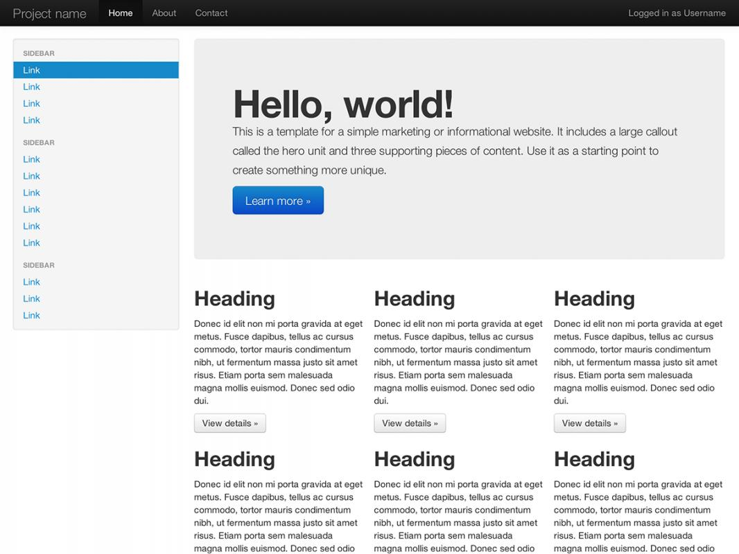 bootstrap css templates