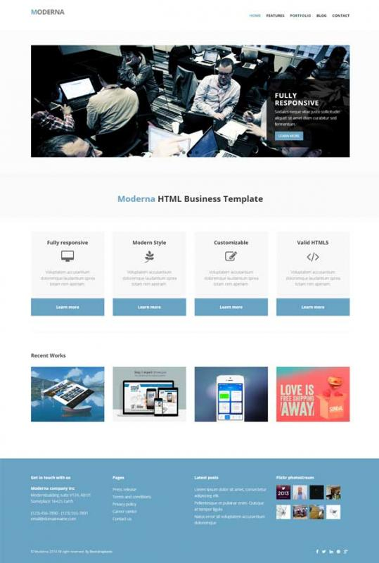 bootstrap templates free download