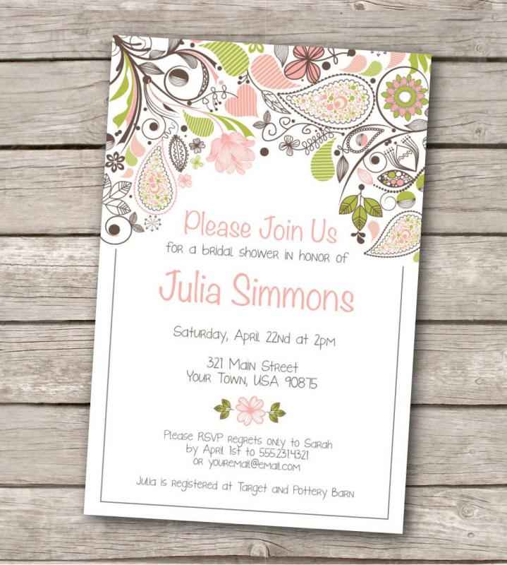 bridal shower invitation templates microsoft word