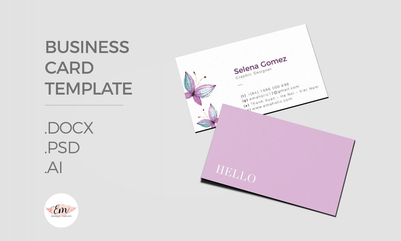 Business card template ai shatterlioninfo for Illustrator business card template