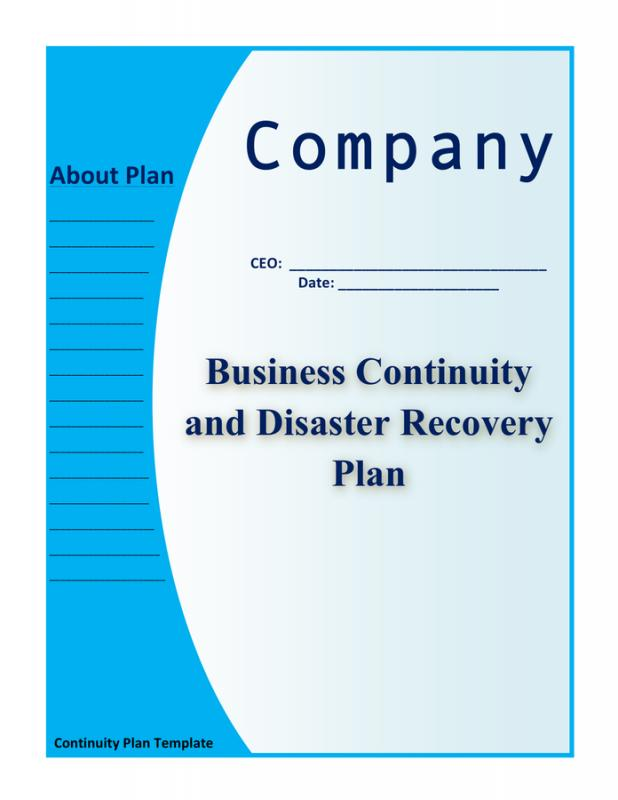 Business continuity and disaster recovery plan template enterprise continuity and disaster recovery plan template business accmission Choice Image