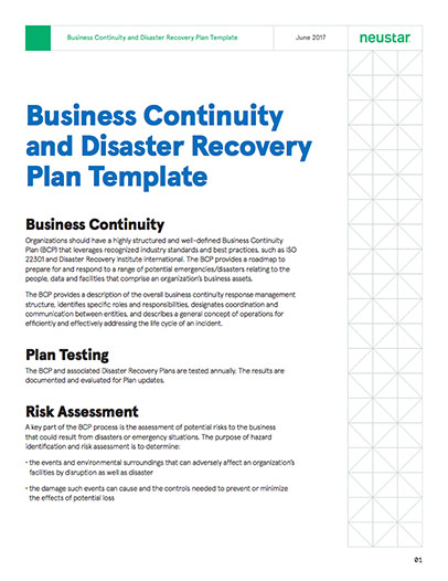 Business continuity and disaster recovery plan template enterprise continuity and disaster recovery plan template business flashek Choice Image