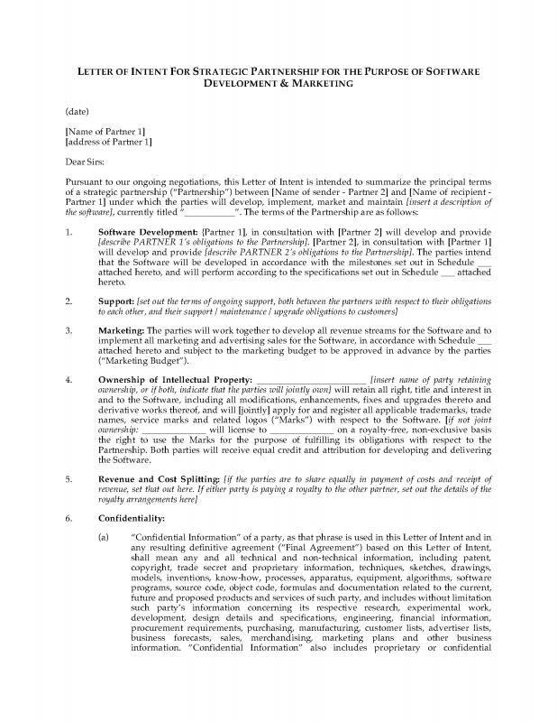 Business Partnership Agreement Template Shatterlionfo