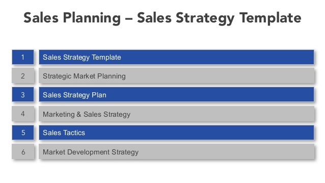 Sales Strategy Business Plan Idealstalist