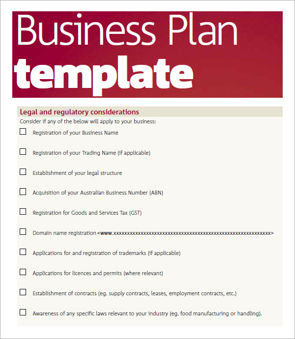 Business Plan Template | shatterlion info