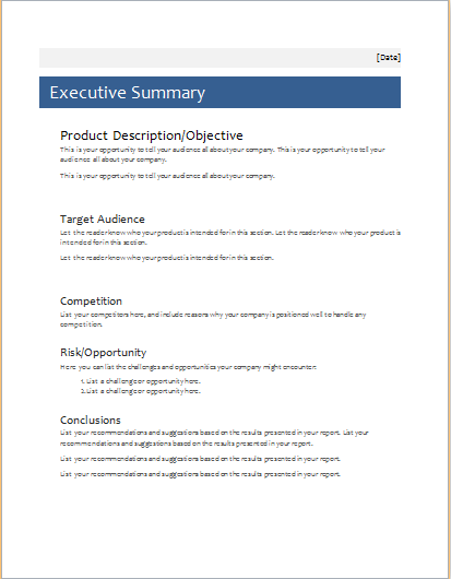 business proposal template microsoft word