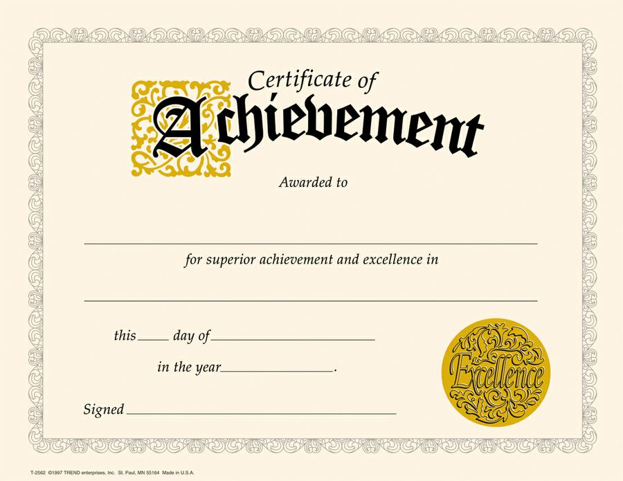 Certificate Of Achievement Template Free | shatterlion.info
