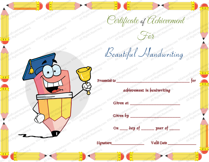 Certificate templates free download for Award certificate template free download