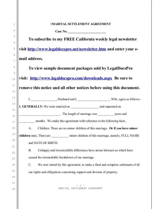 No Child Support Agreement Image Collections  Agreement Letter Format