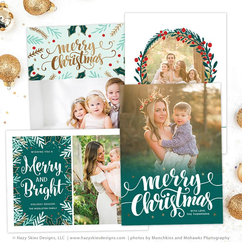 christmas card templates for photographers