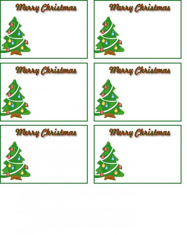 christmas tag templates