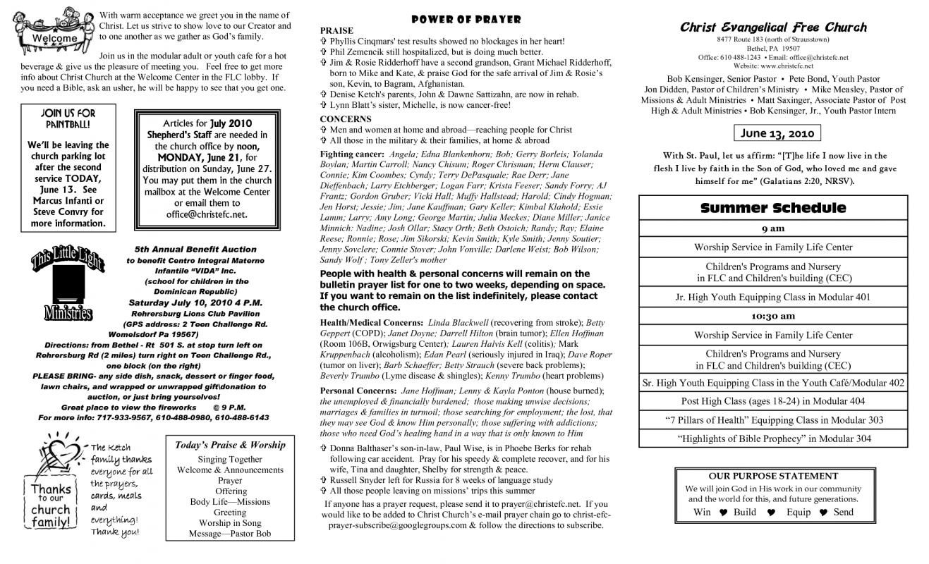 Church bulletin templates microsoft publisher for Free templates for church bulletins